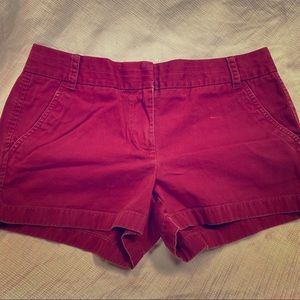 J. Crew women's red chino shorts in good shape